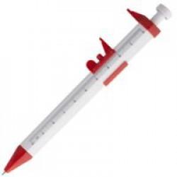 Ручка шариковая «Штангенциркуль», белая с красным