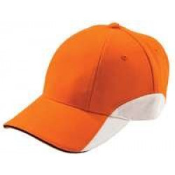Бейсболка Unit Discovery, оранжевая с белым