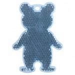 Пешеходный светоотражатель «Мишка», синий