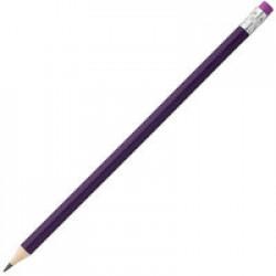 Карандаш простой Hand Friend с ластиком, фиолетовый