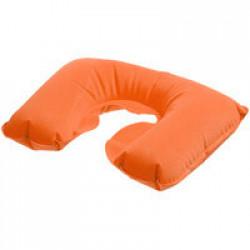 Надувная подушка под шею в чехле Sleep, оранжевая