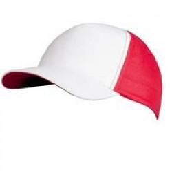 Бейсболка Unit Pro, белая с красным