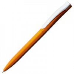 Ручка шариковая Pin Silver, оранжевый металлик