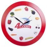 Часы настенные Vivid Large, красные