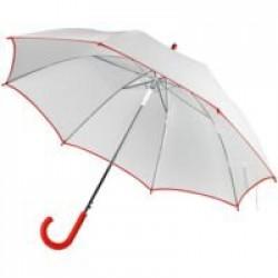 Зонт-трость Unit White, белый с красным
