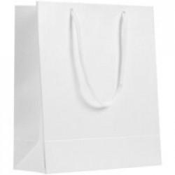 Пакет бумажный «Блеск», малый, белый