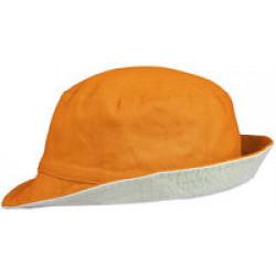 Панама Unit Summer двусторонняя, светло-оранжевая с серым