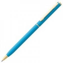 Ручка шариковая Hotel Gold, ver.2, матовая голубая