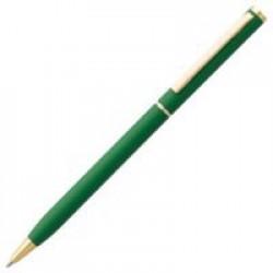 Ручка шариковая Hotel Gold, ver.2, матовая зеленая