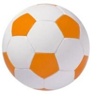 Мяч футбольный Street, бело-оранжевый