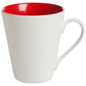 Кружка New Bell матовая, белая с красным