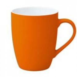 Кружка Good Morning c покрытием софт-тач, оранжевая