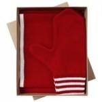 Набор Best: шапка, шарф и варежки, красно-белый