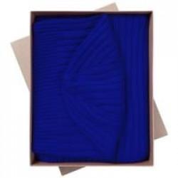Набор Stripes: шарф и шапка, ярко-синий