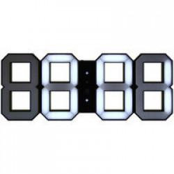 Часы настенные White & White Clock, черные