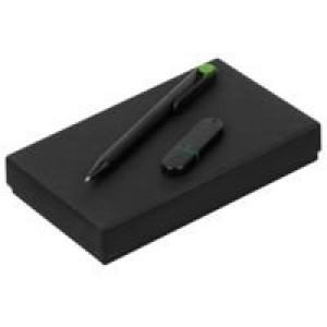 Набор YourDay Black, черно-зеленый