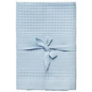 Полотенце вафельное Adore Medium, голубое