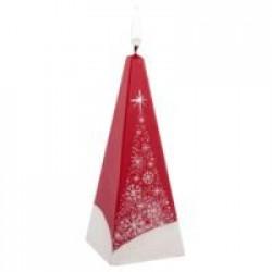 Свеча ручной работы «Снежный лес», в форме пирамиды