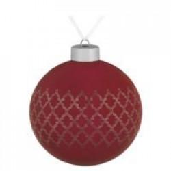 Елочный шар King, 10 см, красный