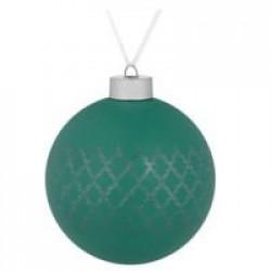 Елочный шар King, 10 см, зеленый