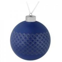 Елочный шар Queen, 10 см, синий