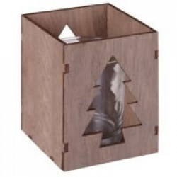 Подсвечник Wood, с изображением елочки