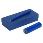 Набор Couple: аккумулятор и ручка, синий
