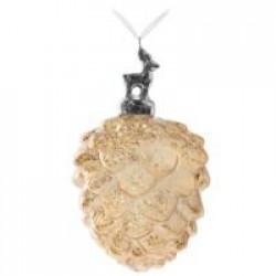 Елочное украшение «Золотистая шишка»