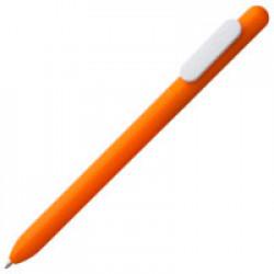 Ручка шариковая Slider, оранжевая с белым