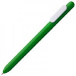 Ручка шариковая Slider, зеленая с белым