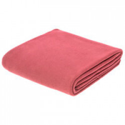 Флисовый плед Warm&Peace, розовый (коралловый)