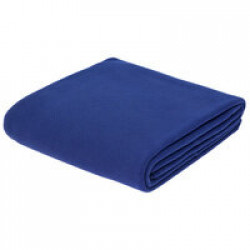 Флисовый плед Warm&Peace, ярко-синий
