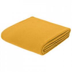 Флисовый плед Warm&Peace, желтый