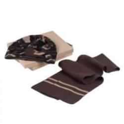 Набор Storm, шарф и шапка, зелено-коричневый