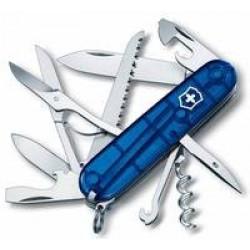 Офицерский нож Huntsman 91, прозрачный синий