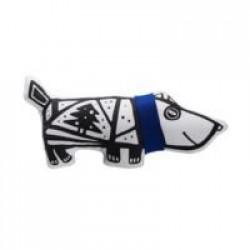 Игрушка «Собака в шарфе», малая, белая с синим