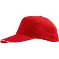 Бейсболка SUNNY, красная с белым