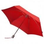 Складной зонт Alu Drop, 4 сложения, автомат, красный