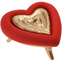 Шкатулка «Сердце», красно-золотая