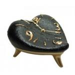 Часы «Сердце», черно-золотые