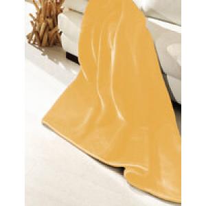 Плюшевый плед DeLuxe, золотой