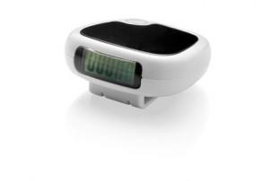 Трекинговый шагомер с экраном LCD «Trackfast», белый/черный