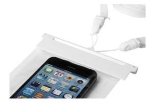 """Чехол водонепроницаемый """"Splash"""" для смартфонов, прозрачный/белый"""