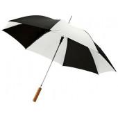 """Зонт-трость """"Lisa"""" полуавтомат 23"""", белый/черный"""