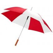"""Зонт-трость """"Lisa"""" полуавтомат 23"""", красный/белый"""