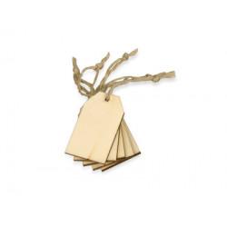 Набор деревянных ярлыков, 3 х 5 см