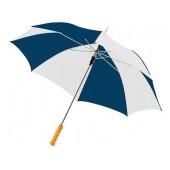 """Зонт-трость """"Lisa"""" полуавтомат 23"""", синий/белый"""