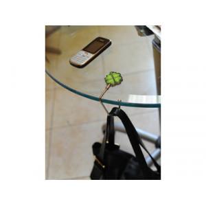 Набор «Дамское счастье»: шариковая ручка, крючок для ключей, складной крючок для сумки с карабином и шильдом, крючок для сумки в виде листочков клевера с четырьмя лепестками
