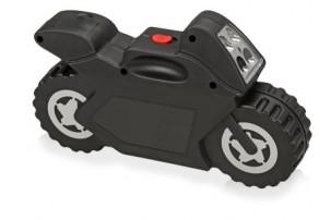 Набор инструментов с фонарем в футляре в виде мотоцикла, 21 предмет, черный