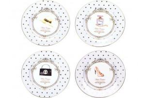 Набор из четырех десертных тарелок «Женский каприз»